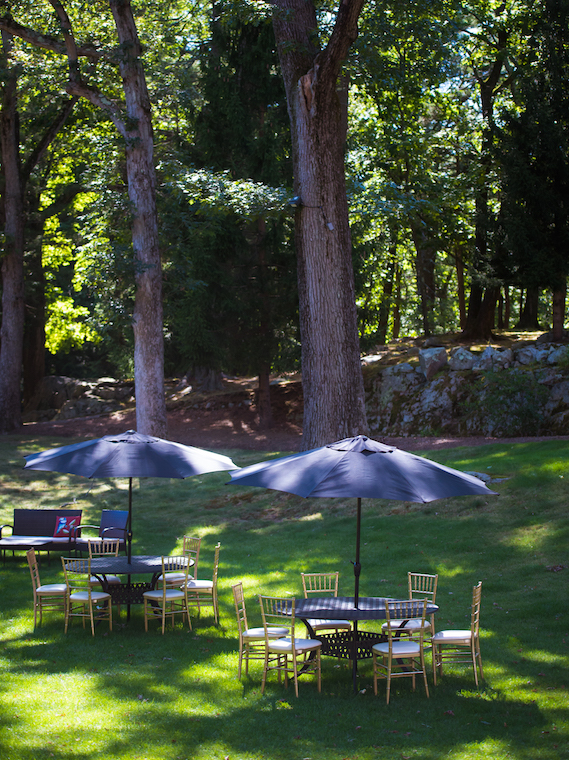 View of the lawn at Endicott House