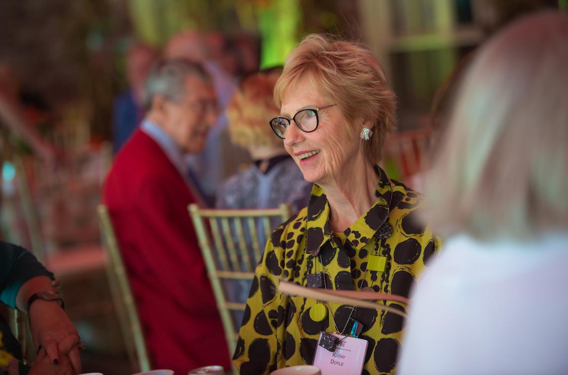 Kathy Doyle enjoying others company