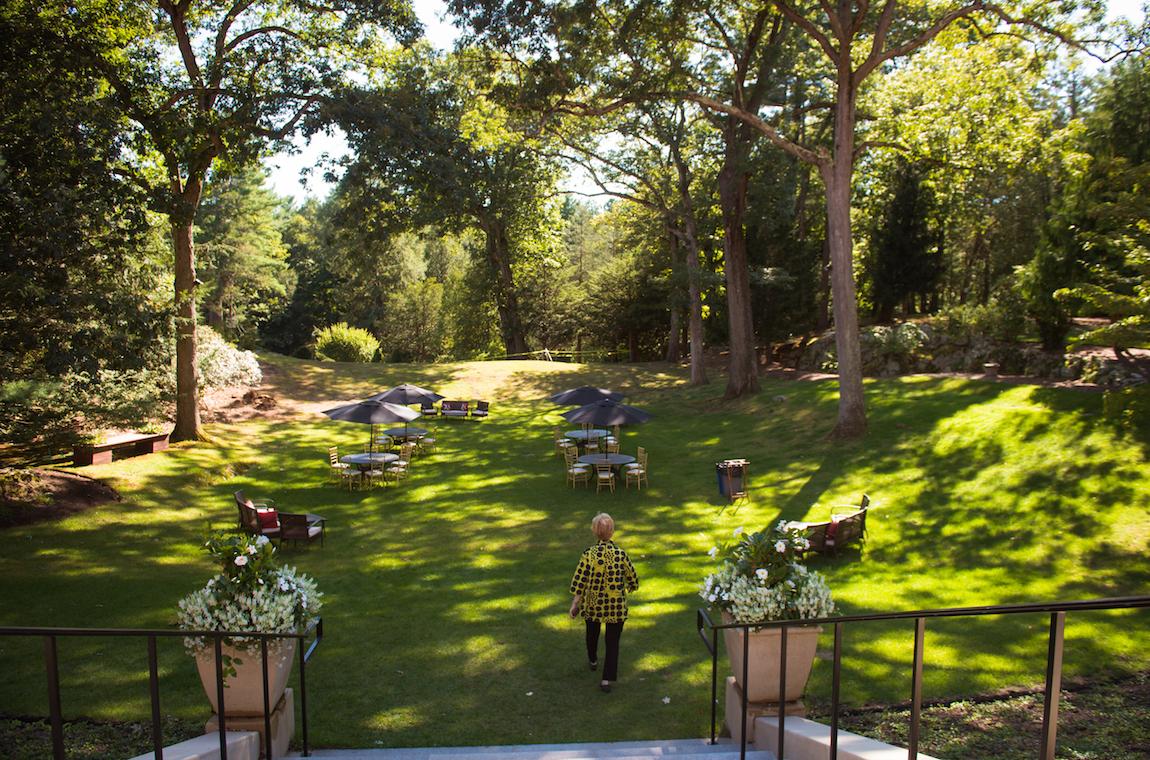 Backyard of Endicott House