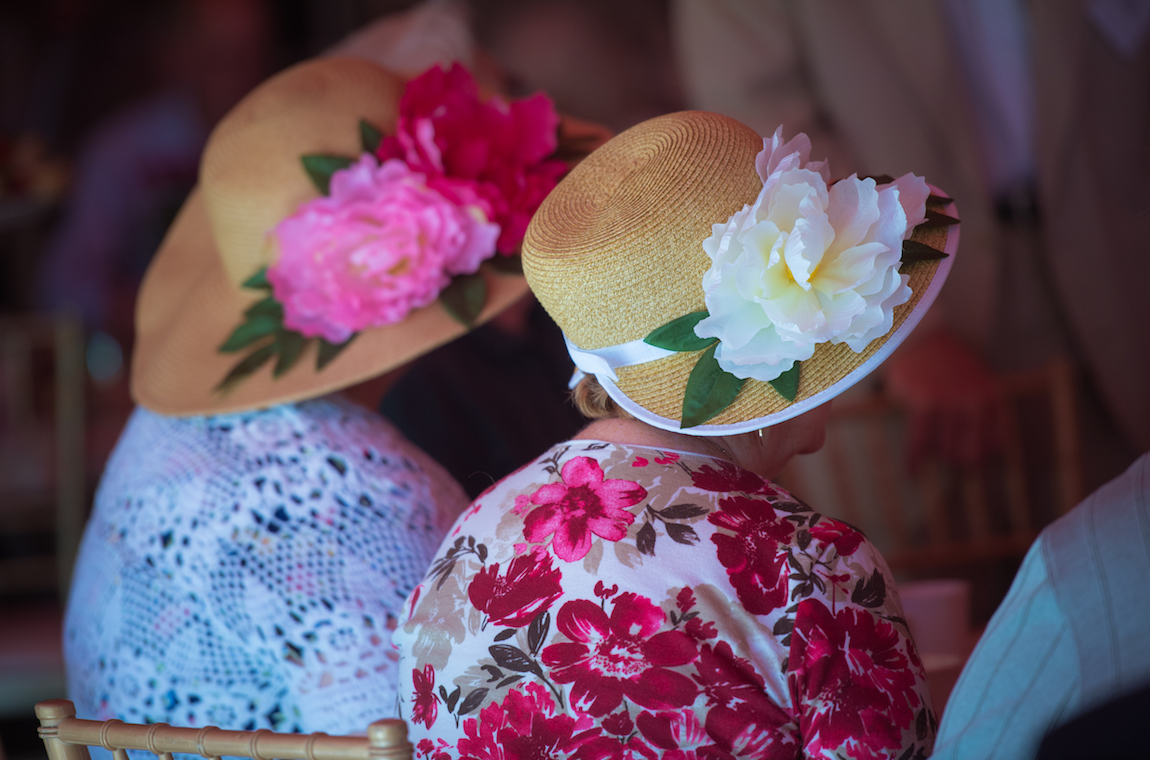 Attendees' Festive Hats