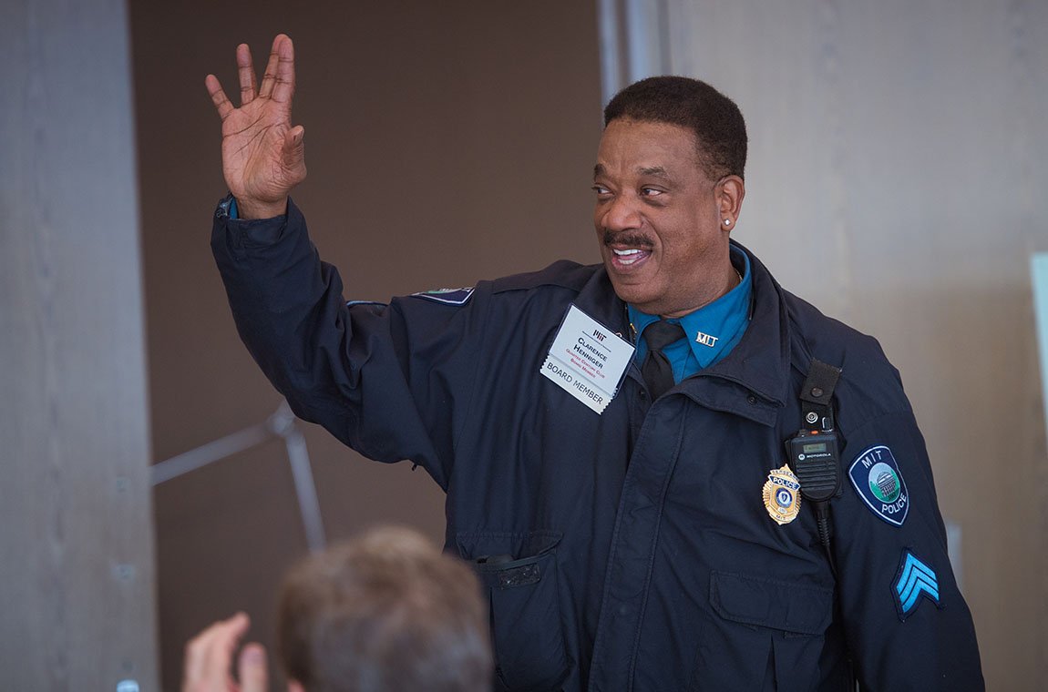 QCC Board member and MIT Police Sgt. Clarence Henniger