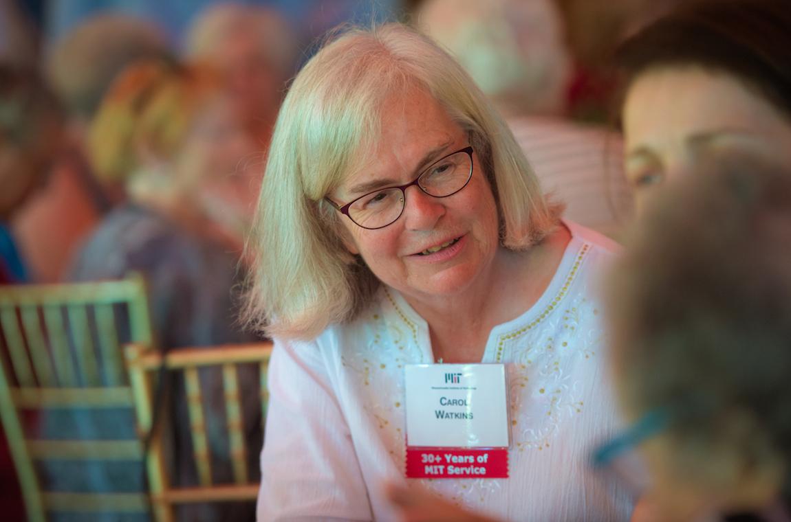 Carol Watkins chatting