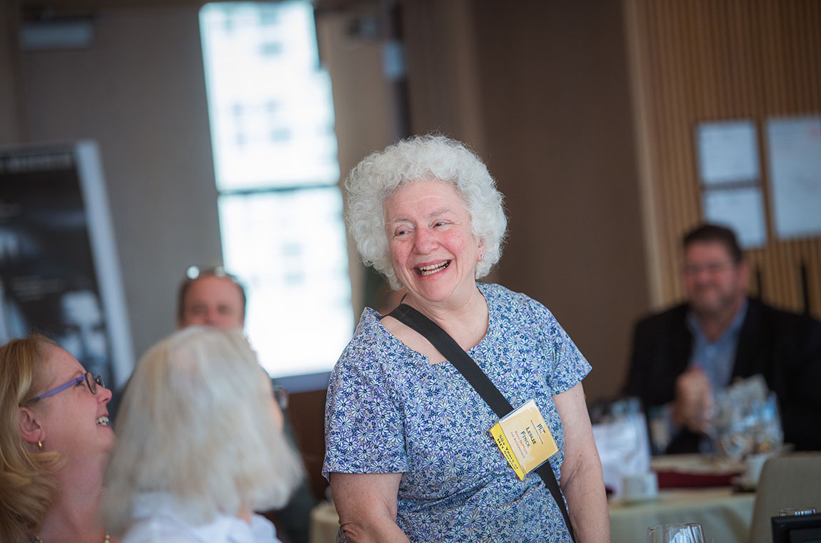 50-year achiever Leslie Finck is recognized for her special MIT milestone