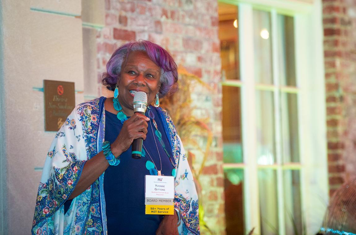 Yvonne Gittens making a speech