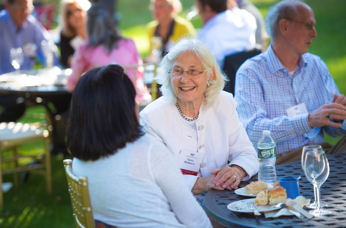 Carol McKinley chatting