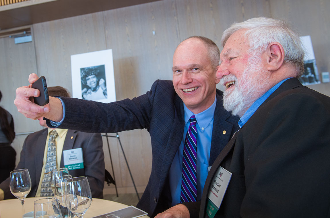Paul Juodawlkis taking a selfie with William Goodhue