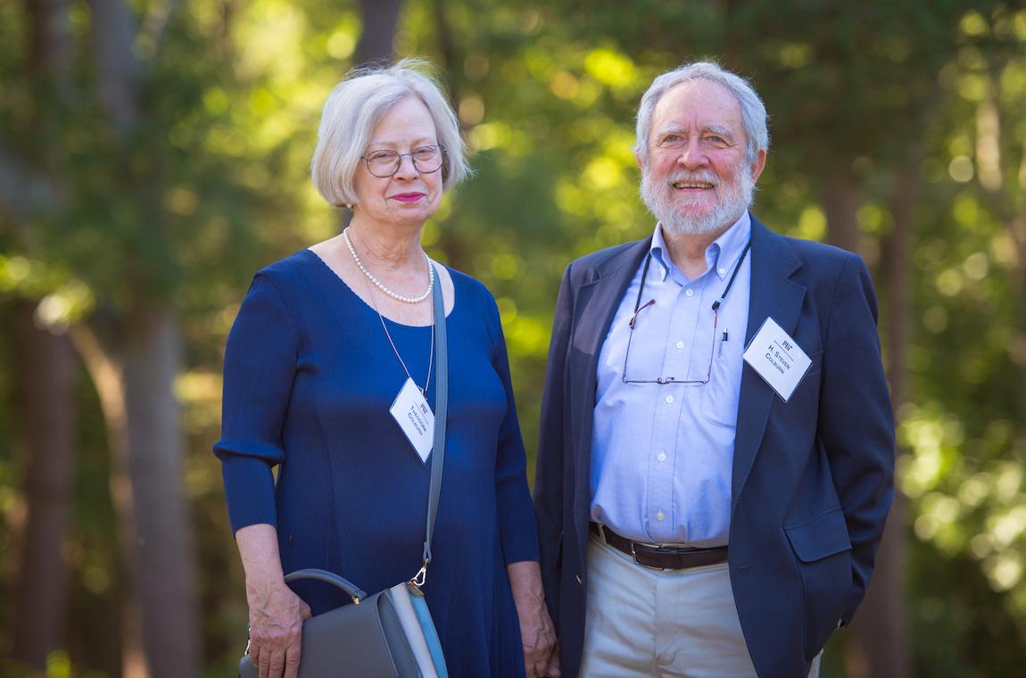 H. Steven Colburn and Theodora Colburn enjoying a moment outside