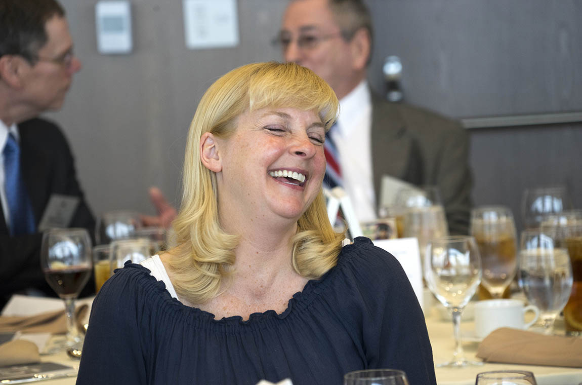 Photo of new QCC member laughing