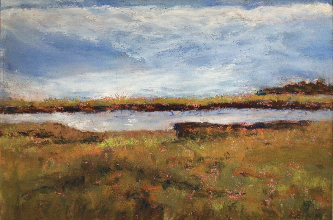 Landscape Painting of a Marsh