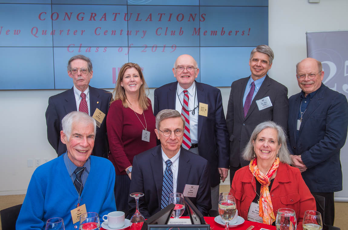 Group photo of new members, 50-year achievers, Board member