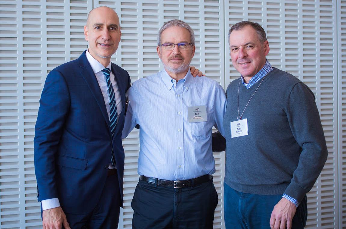 Photo of new members Peter Bedrosian, John Dunbar, and Greg Raposa