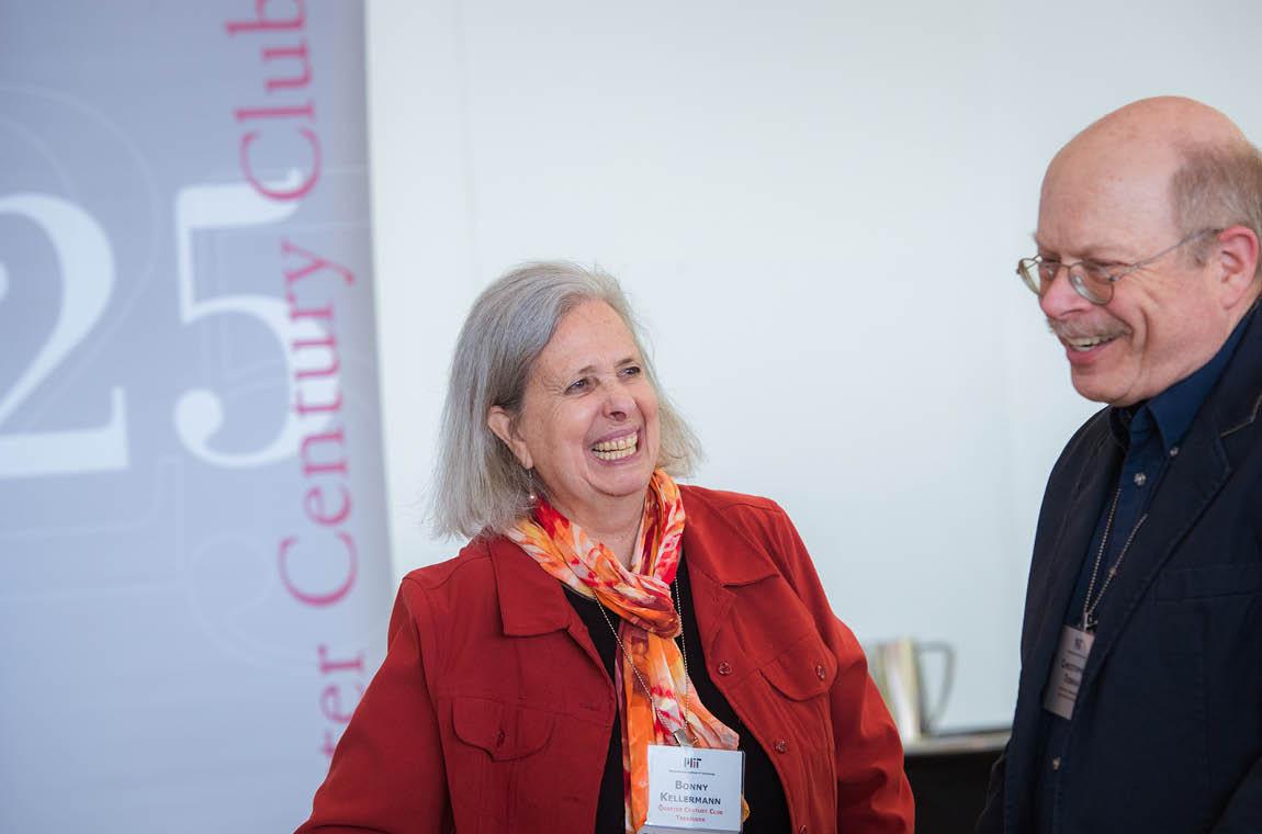 Photo of QCC treasurer Bonny Kellermann and new member Herman Marshall