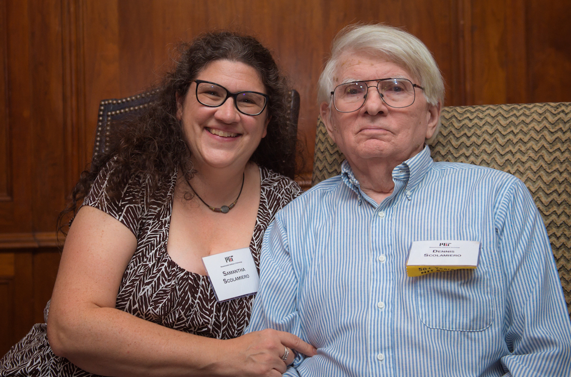 Dennis Scolamiero and Samantha Scolamiero posing for a photo